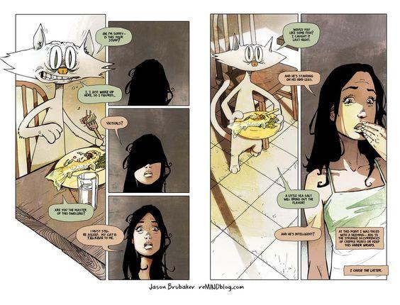 """""""reMind"""" comic book spread"""